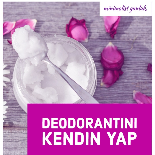 diy deodorant baking soda coconut oil kendin yap hindistan cevizi yağı