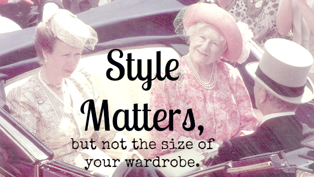 Style Matters (but not the size of your wardrobe)