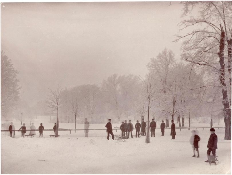 Humlegarden, wintertime, 1880s.