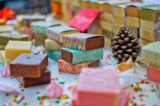colorful soap christmas