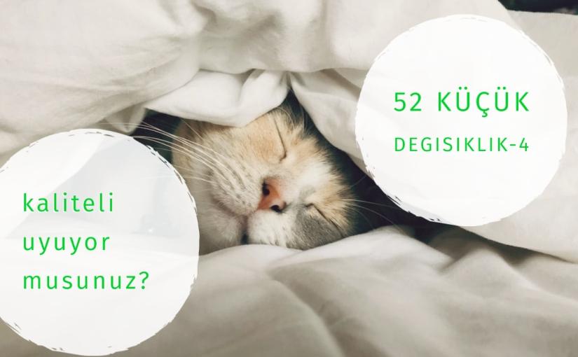 52 Küçük Değişiklik 4. Hafta:Uyku